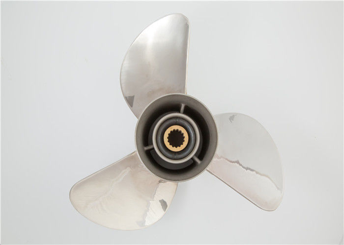 3 Blades Boat Engine Propeller , Yamaha Stainless Steel Propellers