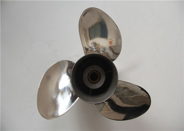 Polished Stainless Steel Outboard Motor Propellers 3 Blades With 13 3/4x15 Size